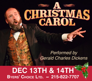 Celebrate the holiday season with Gerald, the great-great grandson of Charles Dickens, as he performs a one-man show of A Christmas Carol, taking the part of twenty-six different characters in turn. The performance is unforgettable, as he brings to life all of the meaning of the original story. $20 ticket. See website for details.