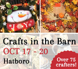 Our 200 year old barn is packed full of the creations of local crafters. The perfect place to shop for Mom, Teachers, Dad and yourself! Shop local and get some fantastic values. We have things for inside and out, plus goodies and treats to take home and enjoy. Inventory Restocked daily. Visa/MC/Discover accepted. You won't be disappointed!