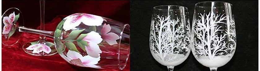 Painted Glasses by Silk Elegance