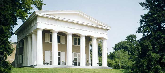 Andalusia is the finest example of Greek Revival domestic architecture in the United States. Check website for days, times, and rates.